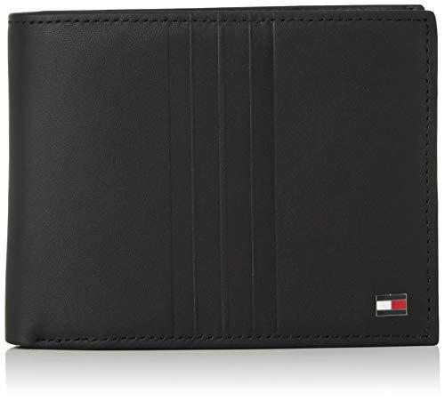 Tommy Hilfiger Herren Th Metro Cc Flap and Coin Geldbörse, Schwarz (Black), 1x1x1 cm