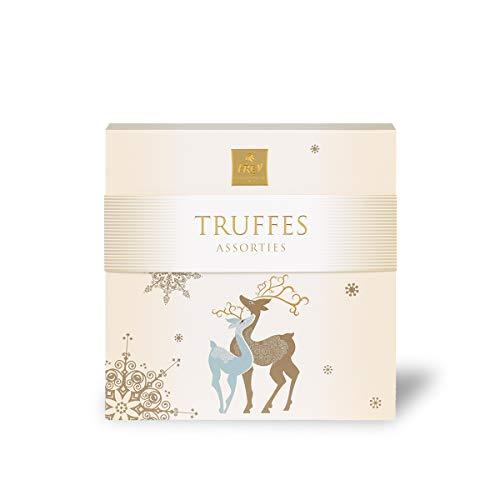 Frey Truffes Rentier 198gr - Assortierte Trüffel zum Verschenken - Schweizer Premium Schokolade - UTZ Zertifiziert - Confiserie-Spezialitäten in weihnachtlicher Geschenkverpackung