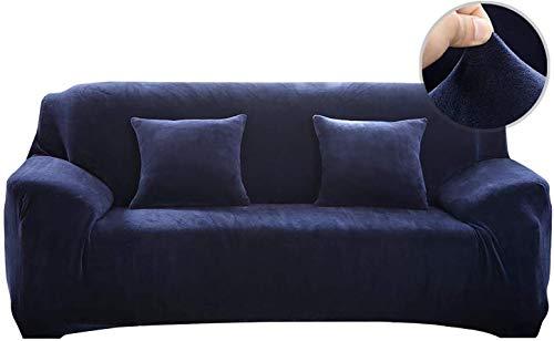 Pengmai - Funda de sofá extensible de 1/2/3/4 plazas, funda de sofá gruesa, terciopelo Easy Fit tejido elástico protector de sofá, azul, 3 Place (195-230cm)