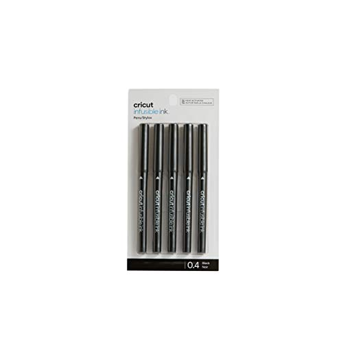 Cricut Infusible Ink Pens, Black Fine-Point Markers (0.4) for DIY, 5 count