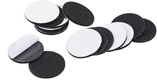 BGGQDG Almohadillas de muebles duraderas Adhesivo Pastillas de fieltro de 40 mm de diámetro 3 mm de grosor redondo negro 48PCS