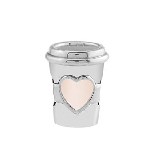 LISHOU Se Adapta A La Pulsera Pandora Argent Charm 925 Sterling Silver Take A Break Coffee Cup Charms Beads para DIY Women Jewelry Making