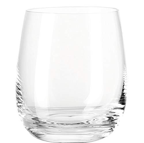 Leonardo Tivoli Trink-Gläser, spülmaschinenfeste Wasser-Gläser, Trink-Becher aus Glas im modernen Stil, 6er Set, klein, 360 ml, 020960