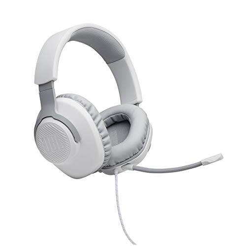 JBL Quantum 100 - Wired Over-Ear Gaming Headphones - White Electronics Features Headphones Headsets Over-Ear