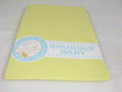 Snuggle Baby (Jaune citron) Draps Berceau (Paire)