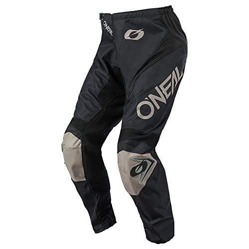 O'NEAL | Motocross-Hose | MX Enduro | Maximale Bewegungsfreiheit, Atmungsaktives & langlebiges Design, Luftdurchlässiges Innenfutter | Pants Matrix Ridewear | Erwachsene | Schwarz Grau | Größe 30/50