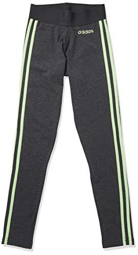 adidas Essentials 3-Stripes Ceñidos, Gris Oscuro/Verde señal, M-L para Mujer