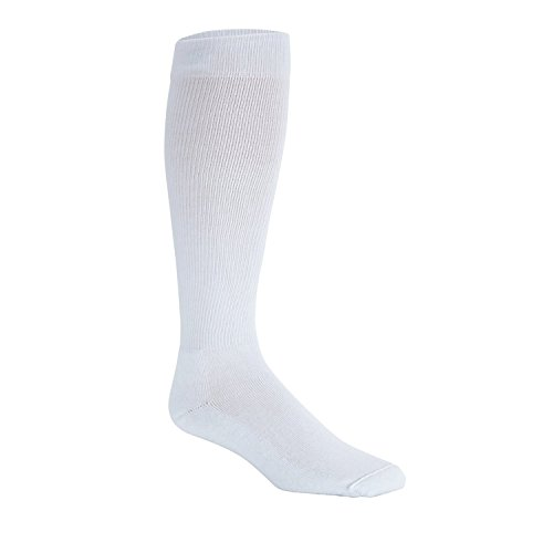 Sigvaris Men's Diabetic Compression Support Sock 18-25mmHg, XL, White