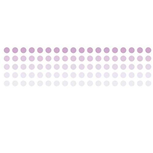 Yeucan Runde Reines Farbverlaufsband Clip Art Textur Papier Schule Bürobedarf Dekoratives Band, Lila