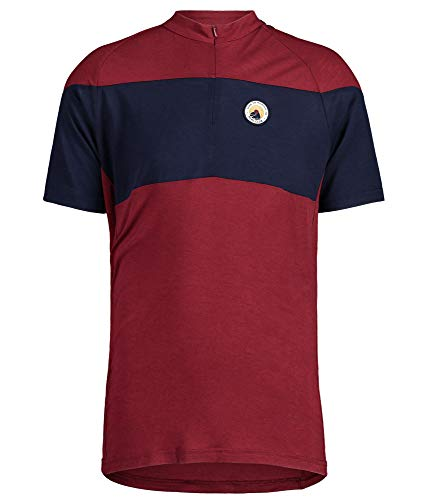 Maloja Büglietm. T-Shirt pour Homme. S Moine Rouge
