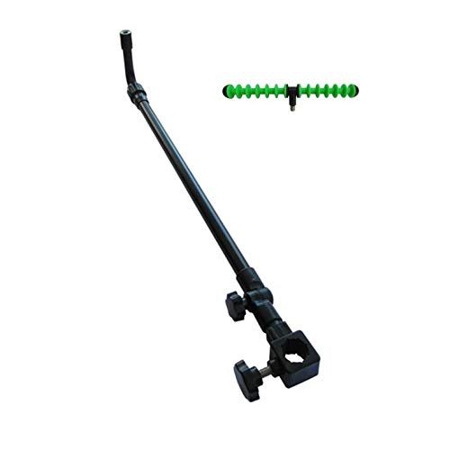 FEEDER ARM CURVED MATCH COARSE METHOD QUIVER TIP FEEDER FISHING ROD REST EXTENDING AND TILTING ADJUSTABLE 60-95CM & SPIRAL FITS MOST SEAT BOXES