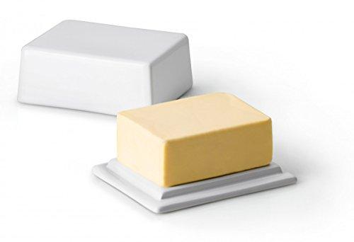 Continenta Butterdose aus Keramik, Butterschale für 250 g Butter, Größe: 12 x 10 x 6 cm