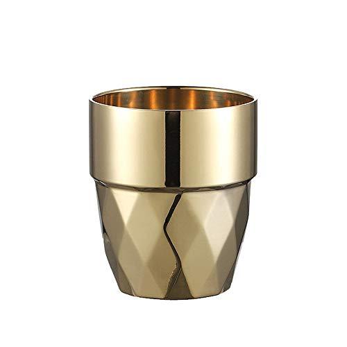 Kacsoo Juego de tazas de café de acero inoxidable de 300 ml, tazas de café aisladas, tazas de doble pared, aptas para lavavajillas
