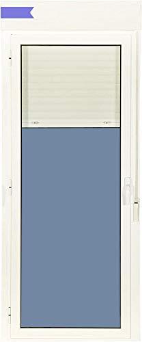 Ventanastock Puerta Balconera Aluminio Practicable Izquierda Con Persiana PVC 880 ancho x 2185 alto 1 hoja (guías y cajón persiana en kit)