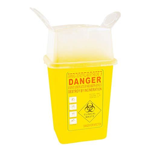Kanülen-Abwurfbehälter Entsorgungsbehälter für Spritzen1l gelb