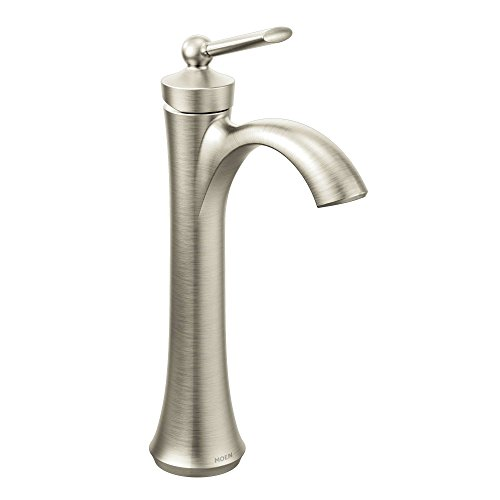 Moen 4507BN Wynford One-Handle High Arc Vessel Bathroom Faucet, Brushed Nickel