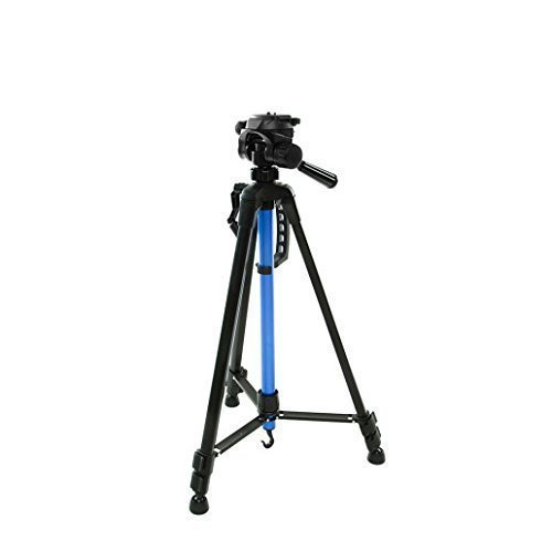 Blulux.it ST-3520 Professional Tripod in Aluminium Lightweight and Extendible up to 143 cm (56') with Case Italian design.