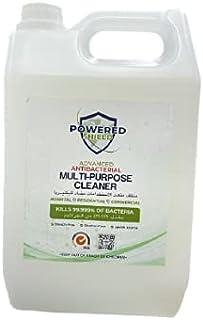 Powered Shield - Advanced Antibacterial Multi-purpose Cleaner - Kills 99.999% of Bacteria (5Ltrs + 750ML Free) - PSMULCLE5...