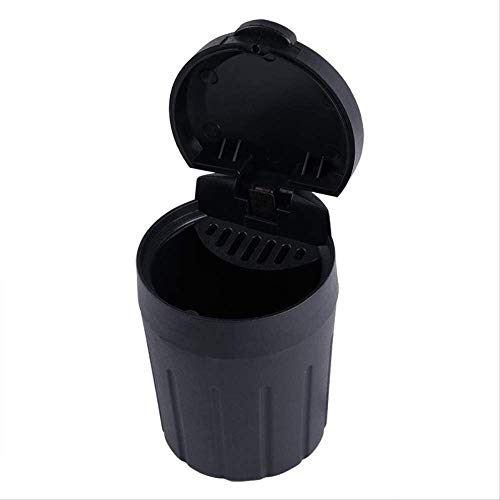 Car Bin ZWRY Mini Car Trash Bin Black Portable Auto Seat Organizer Afvalbak Garbag Cup Stof Vuilnisbak Container Interieuraccessoires 10cm x 7cm x 6.5cm zwart