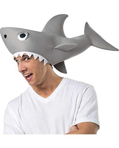 Horror-Shop Lizenzierte Sharknado Haifisch Mütze für Halloween & Fasching