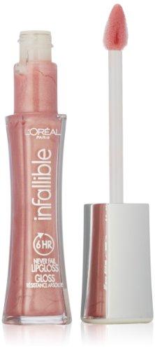 L'Oreal Paris Makeup Infallible 8 Hour Lip Gloss, Comfortable & Hydrating Formula, Petal, 0.5 fl.oz. (0.21 Ounce Lip Stain)