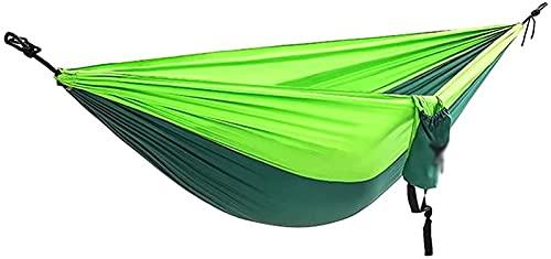 TRYING Hamaca Doble portátil Lightweight Nylon Parachute Hamgock Swing Cama para Camping Interior y al Aire Libre Camping Playa Patio de Playa Leo (Color : E)
