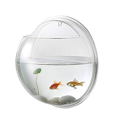 Balacoo Acryl-Fischschüssel, Wandmontage, zum Aufhängen, für Aquarium, Wandmontage, 19,5 cm