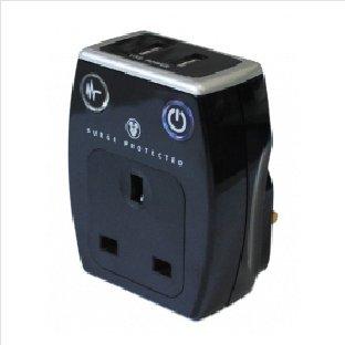 Masterplug Cargador de enchufe con enchufes USB