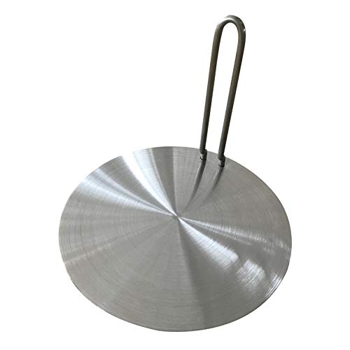 24#/9.21 inch Heat Diffuser Plate Stainless Steel Induction Adapter with Handle for Gas Electric Induction Stove