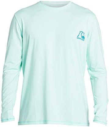 Quiksilver Men s Heritage LS Long Sleeve Rashguard SURF Shirt Beach Glass L product image