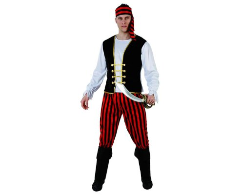 Atosa - 98119 - Costume - Déguisement De Pirate A Rayures Adulte - Taille 2