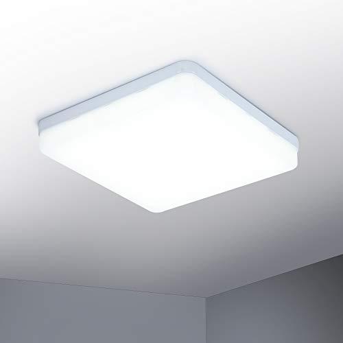 Yafido LED Lámpara de techo 36W Moderna Plafón LED luz de techo Cuadrado delgada 3240lm Blanco Natural 4500K para Dormitorio Cocina Sala de estar Comedor Balcón Pasillo