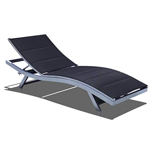ADKINC Spa Chair, Patio Chaise, Lounge Chairs, Outdoor Yard Pool Recliner, Lounge Table Chair (Black)