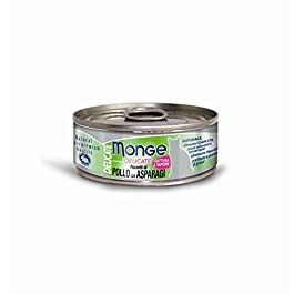 Monge Cat Delicate Bits Of Chicken With Asparagus 80 gr 1 Tin