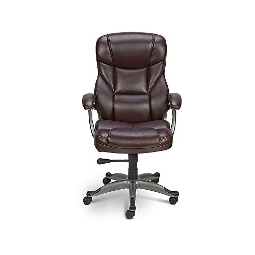 Staples 416523 Osgood Bonded Leather High-Back Manager's Chair Brown