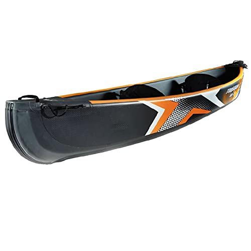 Gaoweipeng 1-3 Persone Kayak Gonfiabile,Collassabile Conveniente Gommoni Gonfiabili Disegno Spazzolato Molti Camera d'Aria Sicurezza Stabilità Comfort Canotto Excursion,2 People