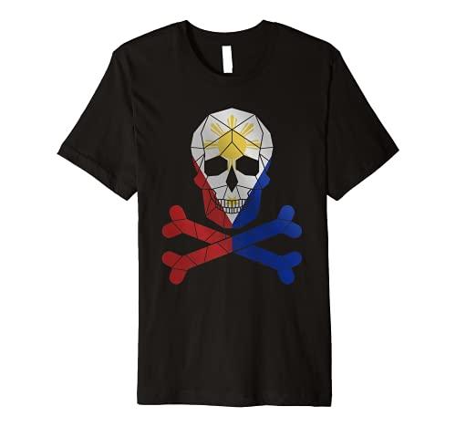Filipino Shirt Barong Women Barong Tagalog for Women Skull Premium T-Shirt