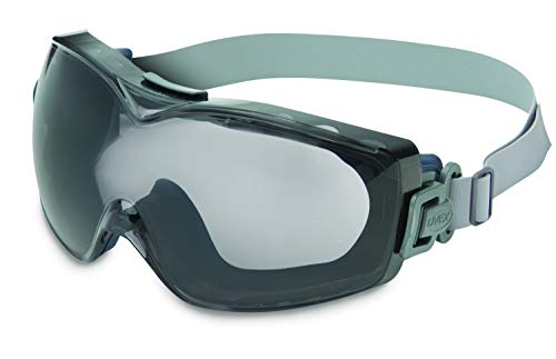 UVEX by Honeywell Stealth OTG Safety Goggles with Gray Lens, Dura-Streme Anti-Fog/Anti-Scratch Coating & Neoprene Headband (S3971D)
