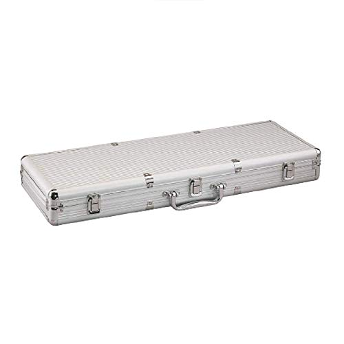 Fat Cat Replacement Aluminum Poker Chip Case - 500ct (Chips, cards, and dice not included )