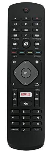 ALLIMITY YKF406-001 996596001555 Telecomando Sostituito per Philips 3D HD Smart TV 32PFH5501 32PFS5501 32PFT5501 40PFH5501 43PUS6401 43PUT6401 49PFT5501 49PUS6401 55POS901F 55PUS6432 55PUT6401