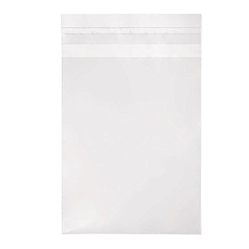 ClearBags 4 5/8 x 5 3/4 Clear Cello Bags 100 Pack | Resealable Adhesive on Flap, Not Bag | Great for A2 Cards, 5.5 Bar Envelopes, Art, Cookies, Stationary, Crafts, Favors | Food Safe | B54A