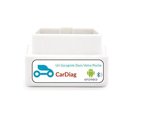 CarDiag unità diagnostica automobilistica multimarca (Bluetooth), Compatibile con l applicazione Gratuita Android, per rilevare guasti e spegnere la Spia del Motore