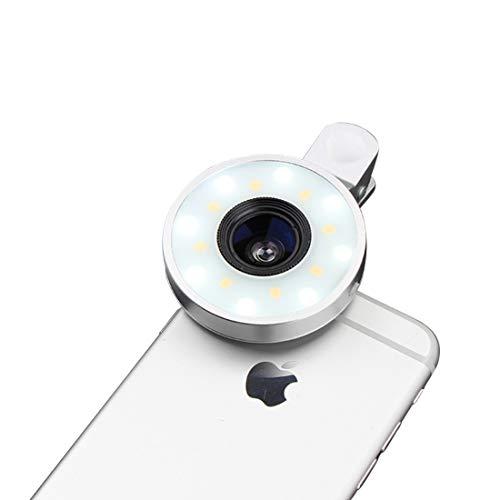 YUMUYMEY Fotocamera Digitale con Zoom Ottico a LED autoscatto grandangolare Macro fisheye Esterna (Color : Silver)