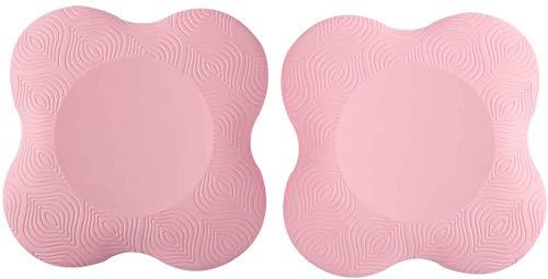 Alaman Yoga Knieschützer, Yogamatte, Kniebandage für Yoga Pink 2 Stück