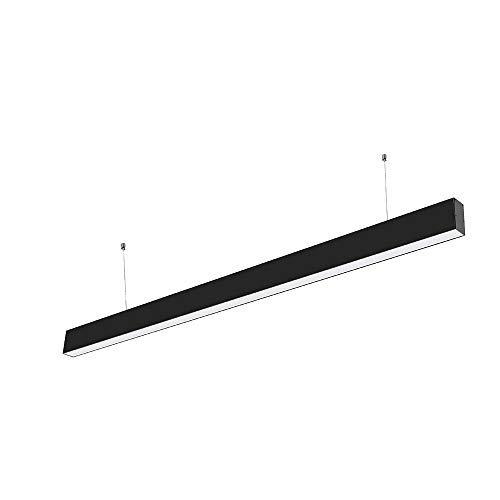 VT-7-40 40W LED LINEAR HANGING SUSPENSION LIGHT WITH SAMSUNG CHIP COLORCODE:6400K -BLACK BODY
