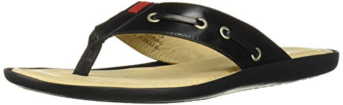 MARC JOSEPH NEW YORK Men's Leather Made in Brazil Rockaway Beach Sandal, Black Nappa, 8 M US