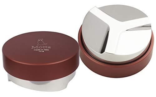 Metallurgica Motta 8370/58 Barista Kaffee Espresso Nivellierwerkzeug für 58 mm Porta Filter, Rot