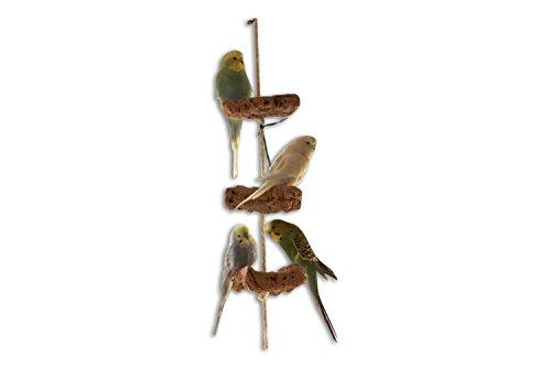 Kork Knabberseil - das perfekte Wellensittich Spielzeug und Vogelzubehör zum Klettern und Nagen | Vogelspielzeug