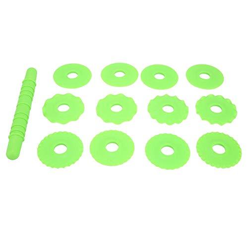 Cortador de hojaldre ajustable Rodillo de corte de masa Molde de rueda rodante para rebanador de pan Fideos que forman la masa de pastel Masa de galleta Pasta de pizza Pizza Herramienta de horneado DI