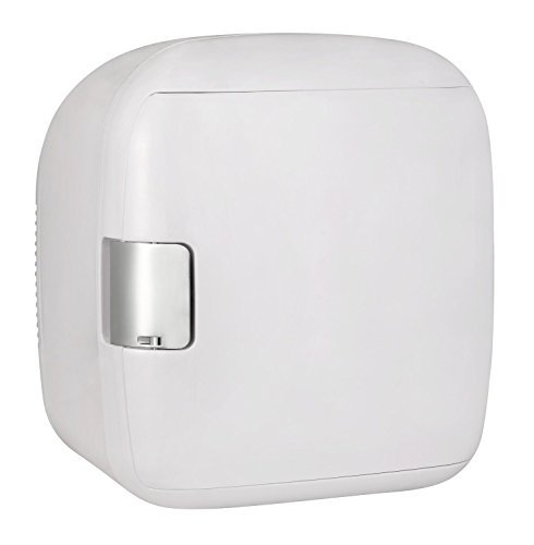 Gourmia GMF900 Thermoelectric Mini Fridge Cooler and Warmer - 9 Can - For Home,Office, Car, Dorm or Boat - Compact & Portable - AC & DC Power Cords - White